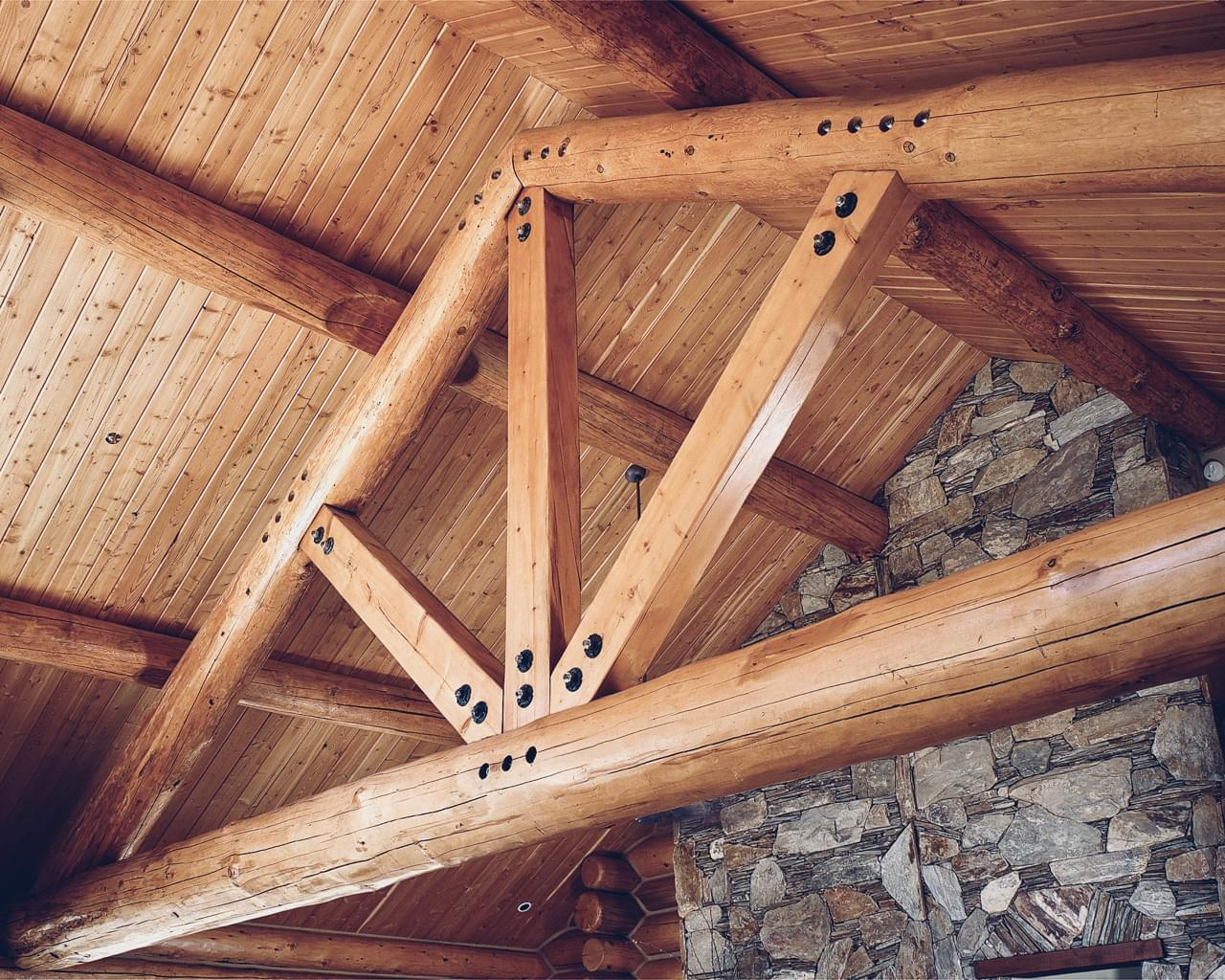 Super Structure Log Roof